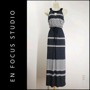 En Focus  Studio Woman Maxi Long Dress Size 4 Blue